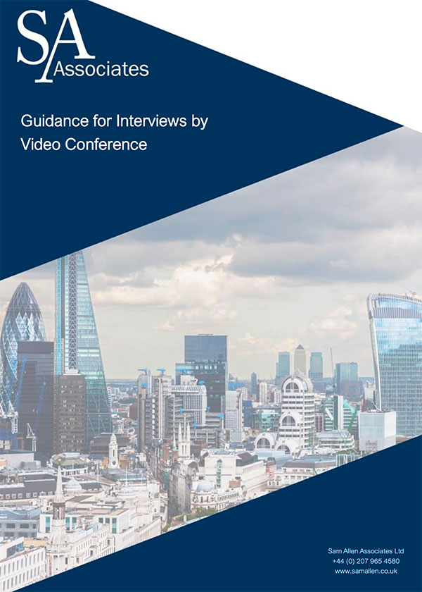 Guidance for Interviews by Video Conference