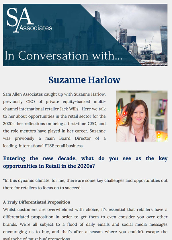 In Conversation with Suzanne Harlow